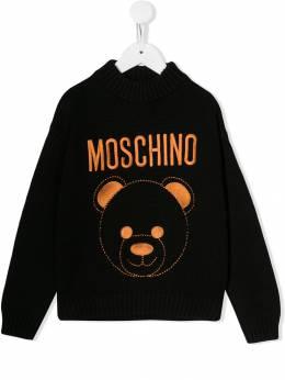 Moschino Kids джемпер с контрастным логотипом HDW01BLHE09