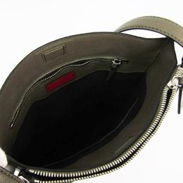 Valentino Khaki Leather Messenger Bag 223384