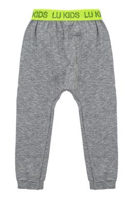 Серые спортивные брюки с контрастной отделкой Lu Kids 1979150818
