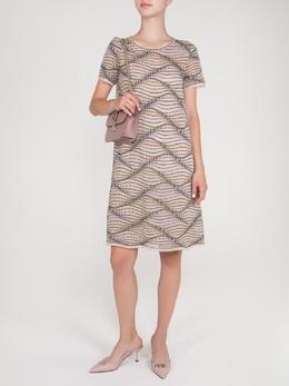 Трикотажное бежевое платье с узором Missoni 33151164