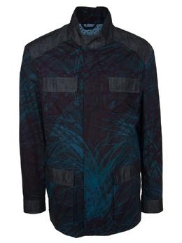 Зелено-голубая куртка с рисунком на спине Etro 907151173