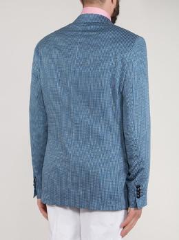Голубой пиджак с узором Etro 907151158