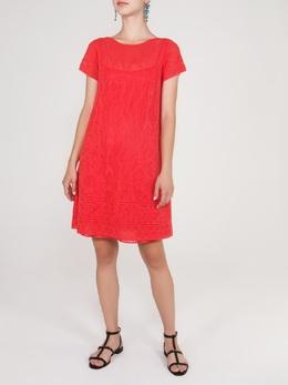 Кружевное коралловое платье Missoni 33151162