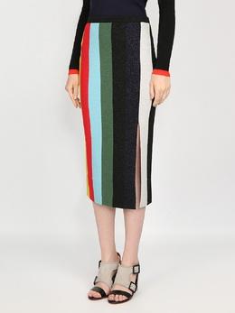 Полосатая юбка-карандаш с разрезом Diane Von Furstenberg 110151149