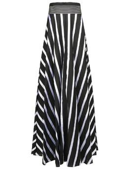 Черная юбка-миди в полоску Diane Von Furstenberg 110151143