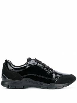 Geox varnished lace-up sneakers D84F2B0DE22C9999