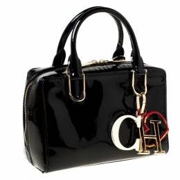 Carolina Herrera Black Patent Crossbody Bag 222050