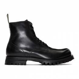 Officine Creative Black Rushden 4 Boots RUSHDEN 004