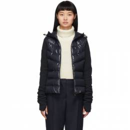Moncler Grenoble Navy Down Panelled Jacket 84513 00 80093