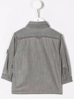 Stella McCartney Kids джинсовая рубашка в технике пэчворк 566308SNK52