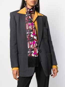 La Doublej шарф с принтом SCA0012SIL001VAR0017