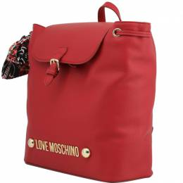 Love Moschino Red Synthetic Leather Backpack 224226