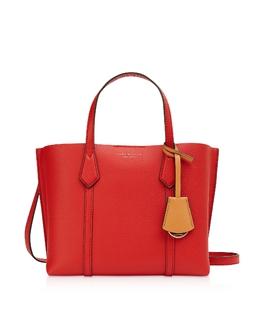 Perry - Маленькая Ярко-Красная Сумка Tote с Тремя Отделами Tory Burch 56249 612-Brilliant Red