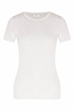 Серая футболка с блестящей отделкой Peserico 1501150949