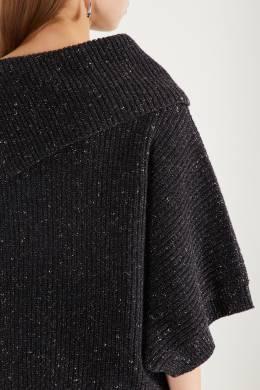 Асимметричный свитер с блестящей отделкой Peserico 1501150948