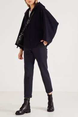 Черные брюки-джоггеры с блестящей отделкой Peserico 1501150947
