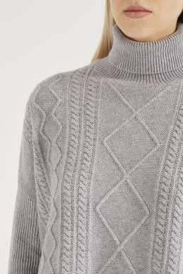 Серый свитер фигурной вязки Peserico 1501150941