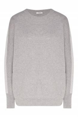 Серый джемпер с контрастной отделкой Peserico 1501150940