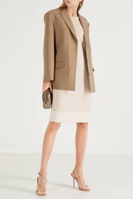 Бежевое платье с накладным карманом Peserico 1501150942
