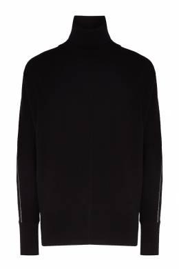 Черный свитер с контрастной отделкой Peserico 1501150930