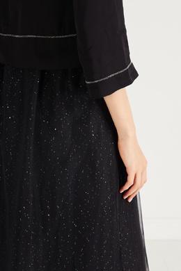 Комбинированное платье черного цвета Peserico 1501150922