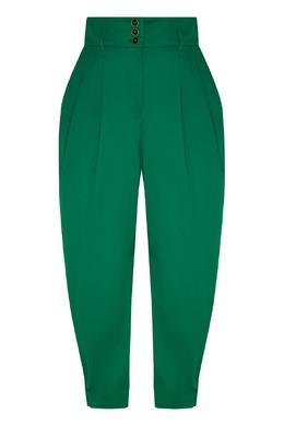 Зеленые брюки с защипами Dolce&Gabbana 599151025