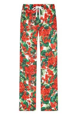 Брюки-джоггеры с цветочным рисунком Dolce&Gabbana 599151018