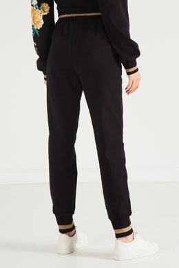 Черные брюки-джоггеры с цветочным рисунком Dolce&Gabbana 599150994
