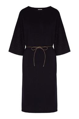 Темно-серое платье с блестящей отделкой Peserico 1501151921