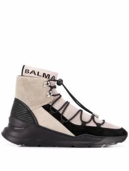 Balmain кроссовки с носочной вставкой RM1C012TCXR