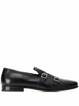 Santoni туфли монки с ремешками MCHR16404LA3MLDL
