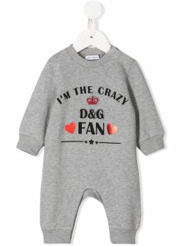 Dolce & Gabbana Kids боди I'm The Crazy Fan L2JOP3G7TDD