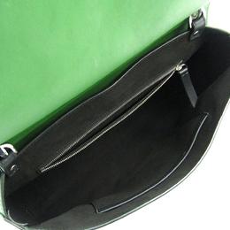 Emilio Pucci Green Leather Micro Pilot Shoulder Bag 222990