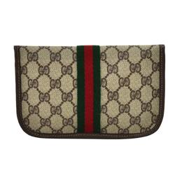 Gucci Beige GG Supreme Coated Canvas Mini Clutch Bag 219625