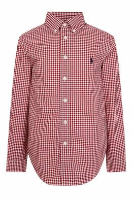 Рубашка в красную клетку Ralph Lauren Kids 1252151630