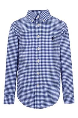 Рубашка в синюю клетку Ralph Lauren Kids 1252151632