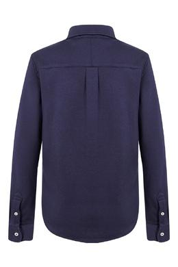 Темно-синяя рубашка Ralph Lauren Kids 1252151626