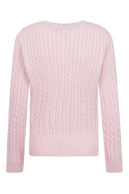 Удлиненный розовый кардиган Ralph Lauren Kids 1252151902
