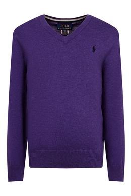 Фиолетовый джемпер с логотипом Ralph Lauren Kids 1252151913