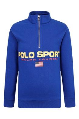 Синий свитер с застежкой-молнией Ralph Lauren Kids 1252151611