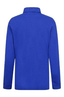 Ярко-синее поло с длинными рукавами Ralph Lauren Kids 1252151728