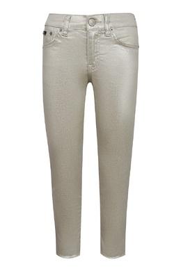 Бежевые джинсы с блестящей отделкой Ralph Lauren Kids 1252151786