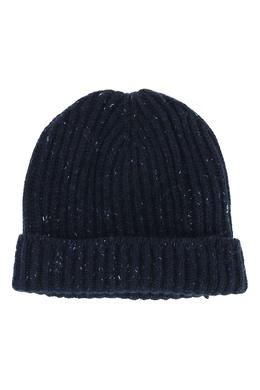 Синяя кашемировая шапка Fedeli 680152193
