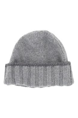 Бежевая шапка-бини с отворотом Fedeli 680152196