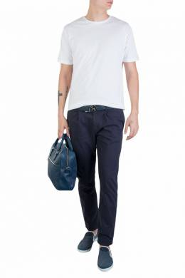 Белая хлопковая футболка Fedeli 680152155