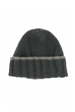 Зеленая шапка-бини с отворотом Fedeli 680152198