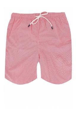 Красные шорты для плавания с узором Fedeli 680152264