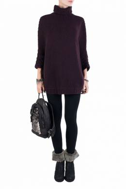 Бордовый свитер из кашемира Fedeli 680152112