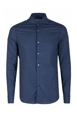Темно-синяя рубашка Fedeli 680152255