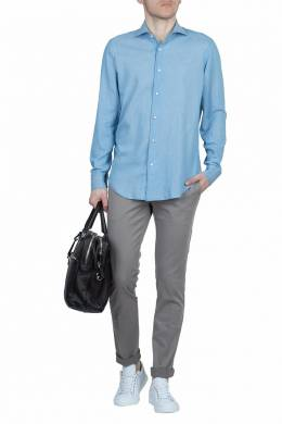 Голубая рубашка Fedeli 680152252